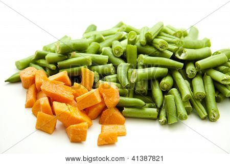 Carrots and Green  String beans