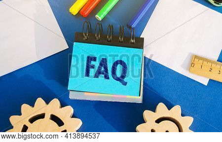 Notes With The Inscription Faq (frequently Asked Questions). Collection Of Frequently Asked Question