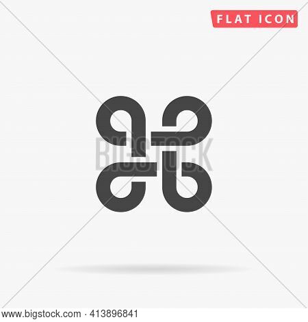 Command Flat Vector Icon. Hand Drawn Style Design Illustrations.