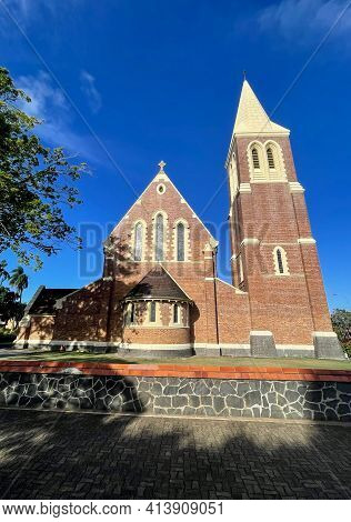 Facade View Of The Historical Christ Church Anglican Church, Built In 1926 In English Gothic Style W