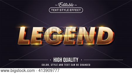 Editable Text Style Effect - Legend Text Style Theme. Graphic Design Elements.