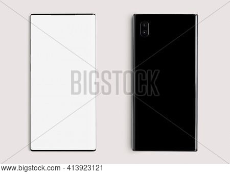Mobile phone screen mockup digital device