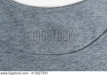 Basic gray tee women's apparel front view