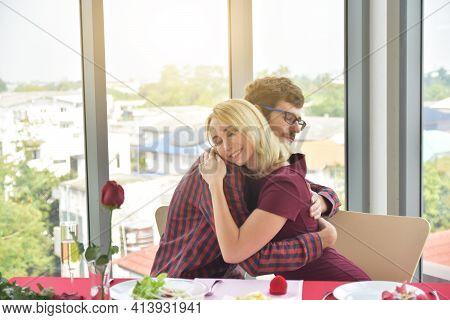 Couple Hug Happy In Love