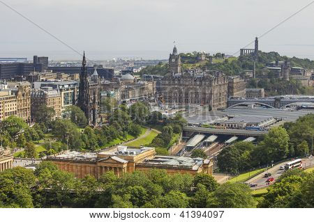 View On Edinburgh's Waverly Railway Station