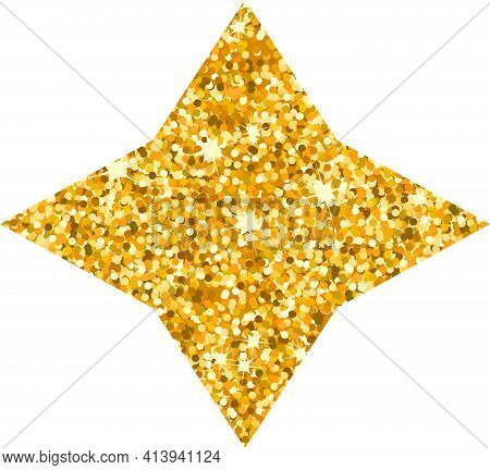 Vector Luxury Gold Star. Rating, Award And Insignia.