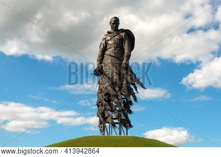 Rzhev, Tver Oblast, Russia - August 20, 2020: Rzhev Memorial To The Soviet Soldier, Dedicated To The