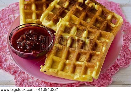 Put Them On A Platter And Serve. This Recipe Produces Very Soft And Delicious Waffles. Cooking Them