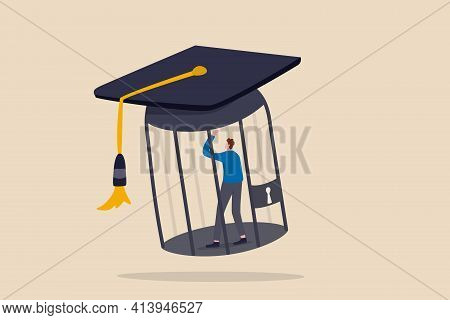 Student Loan Debt, Money Trap That Graduated Have To Payback Huge Amount Of Money, Expensive Cost Fo