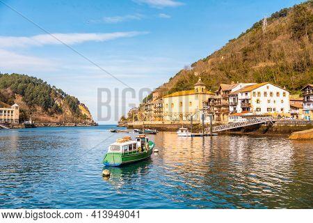 Pasajes San Juan, The Beautiful Coastal Town Next To The City Of San Sebastián In Gipuzkoa. Basque C