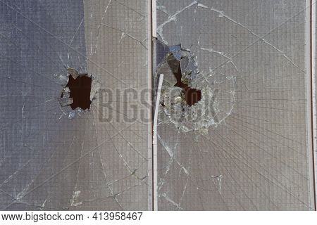 Glass Breakage Of A Glass Pane Or A Glass Panel