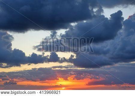 Beautiful sunset and sunrise sky background