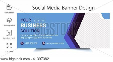 Social Media Banner Or Timeline Cover Page Template Design. Promotional Web Banner For Social Media.