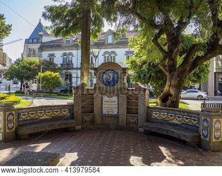 Tomás Ribeiro Garden In The Historic City Of Viseu, Portugal.