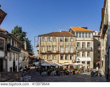View Of One Of The Squares Of The Historic City Of Viseu, Portugal
