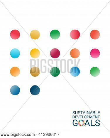 Sustainable Development Goals. Vector Illustration Eps. White Background