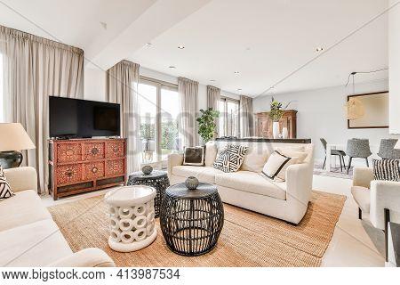 Luxury Interior Design Of A Modern Living Room