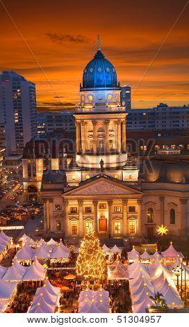 Berlin Gendarmenmarkt Christmas Sunset
