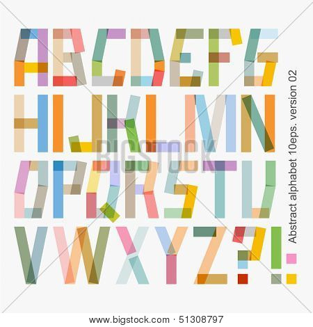 Vector abstract alphabet , version 02 ( 10eps )