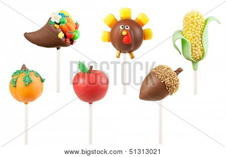 Thanksgiving cake pops