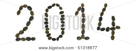 words 2014 made from coffee beans
