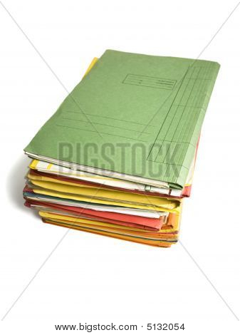 Pequeño montón de carpetas de archivo