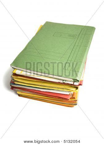 Small Pile Of File Folders
