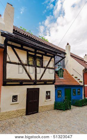 Little Medieval Houses On Golden Lane,praha