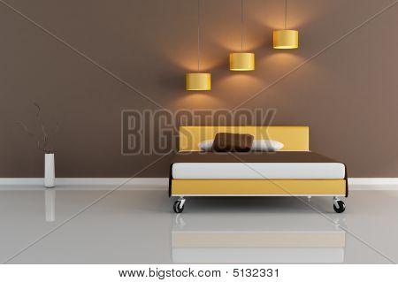 minimale braun Schlafzimmer