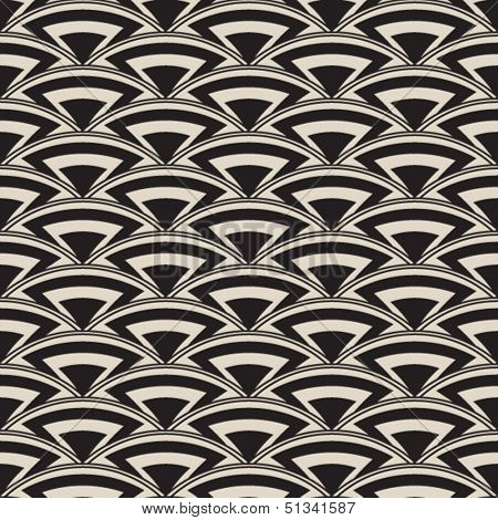 Retro seamless pattern in art deco style, antique stylish ornament,vector repeating fashion texture