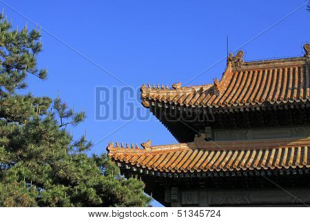 Chinese Ancient Architecture In Eastern Royal Tombs Of The Qing Dynasty, China