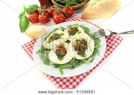 Stuffed Mozzarella With Basil
