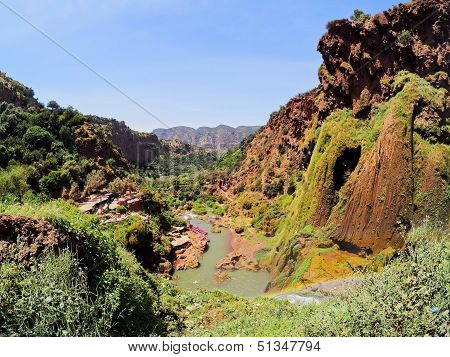 Ouzoud River located in the Grand Atlas province of Azilal 150 km northeast of Marrakech Morocco Africa poster