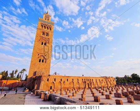 Koutoubia Mosque - the biggest mosque in Marrakech Morocco Africa poster