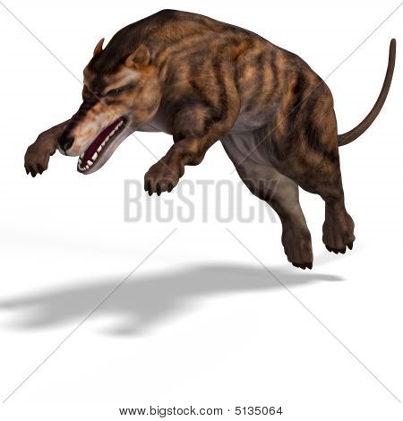 Dangerous dinosaur Andrewsarchus With Clipping Path over white poster