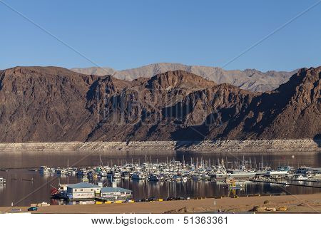 Lake Mead Boat Harbor In Boulder City, Nv On January 30, 2013