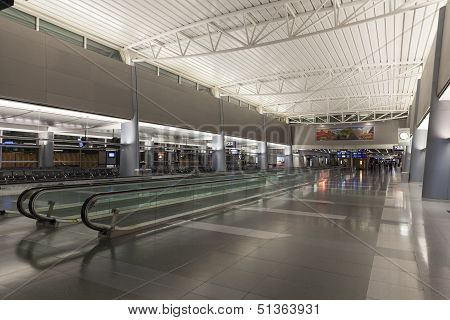 An Empty Hallway At The D Gates Of Mccarran In Las Vegas, Nv On July 01, 2013