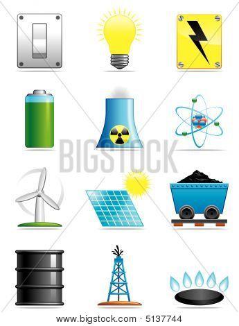 Energi ikoner