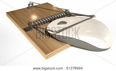 Mousetrap With Trapped Computer Mouse