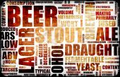 Beer Related Text Design Element as Background poster