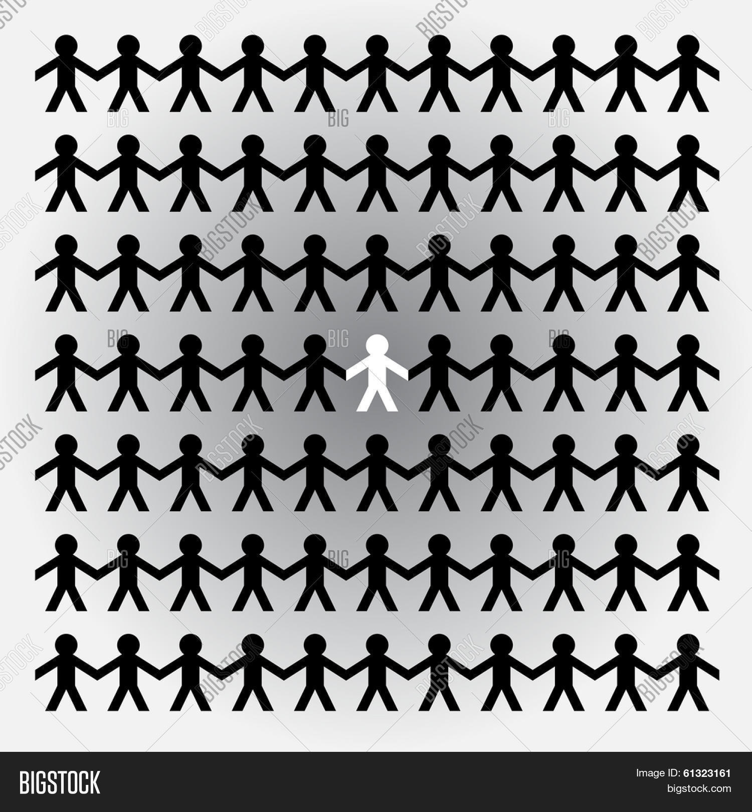 paper cutout people vector photo free trial bigstock