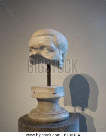 Half-broken Sculptural Head