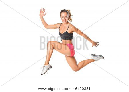 An Attractive Woman In A Jump