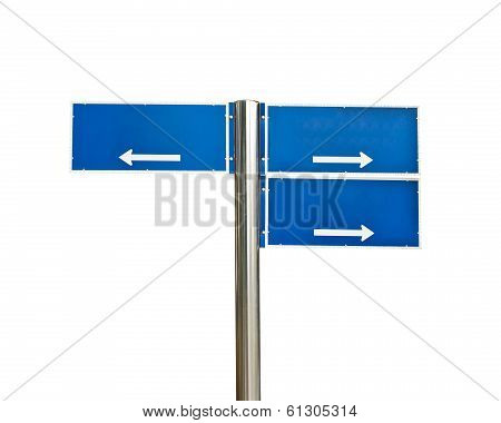 Crossroads Road Sign Isolated