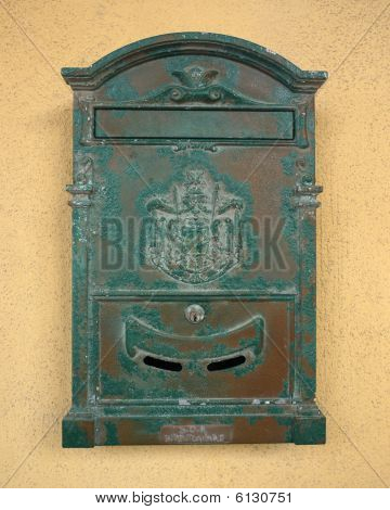Very Old Green Mailbox