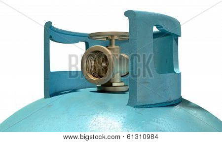 Gas Cylinder Valve Closeup
