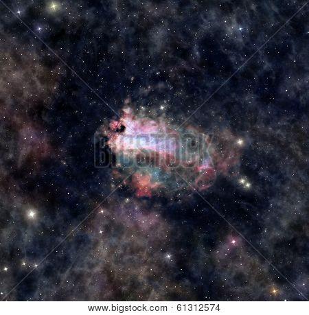 Distant Space Nebula
