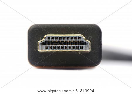 Close Shot Of Hdmi Cable Isolated On White
