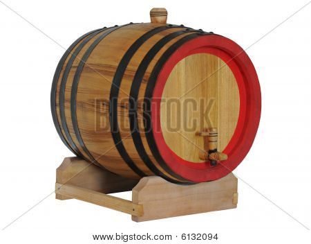 Old barrel for wine