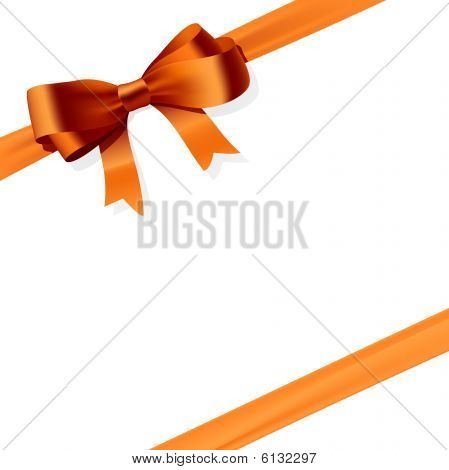 Gift bow. Vector illustration.